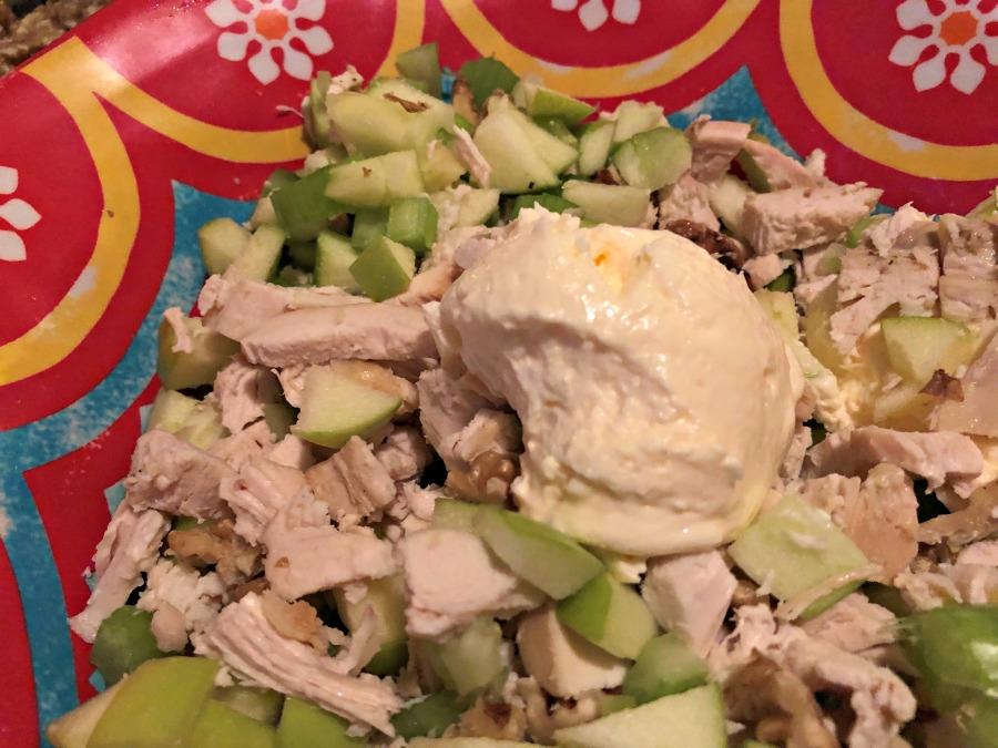 wladorf salad, hicken, sandwich