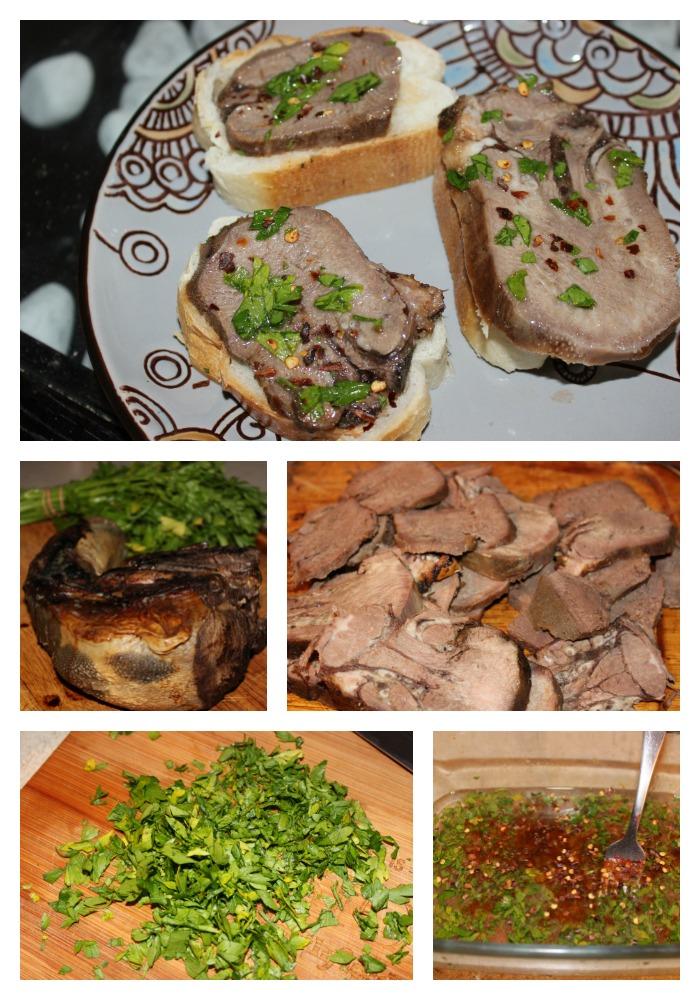 lengua, vinagreta, receta, rumba meats, carne