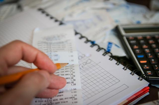 calculating, bills, collection, debt, house finances