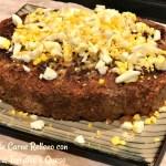 Pastel de Carne (Meatloaf) Relleno con Espinaca y Queso