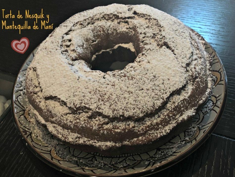 chocolate, mantequilla de maní, receta, torta, torta fácil
