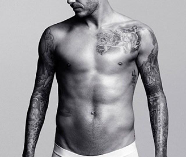 David Beckham Models For His Underwear Label