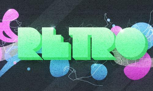 Abstract Retro-Pop Wallpaper