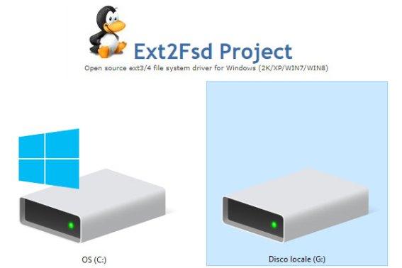 Leggere e scrivere partizioni Ext4/Ext3/Ext2 in Windows 10