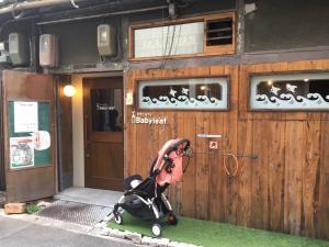 子連れカフェBabyleafの玄関。古民家をリノベーションしています。