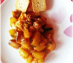 La receta de los domingos: Verduras con salsa de tomate picante
