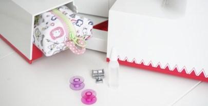 DIY Costura Mini estuche para los accesorios de la máquina de coser