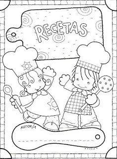 Libro de recetas para niño casero.