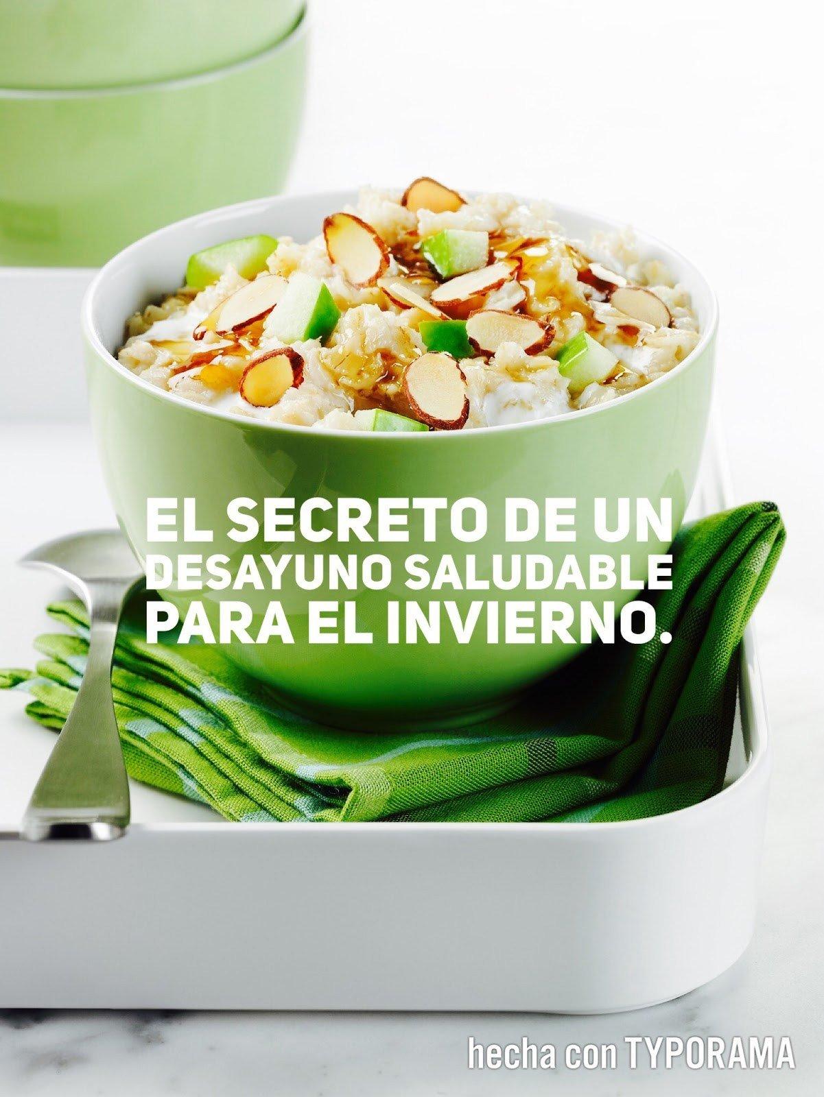 El secreto de un desayuno saludable para el invierno.
