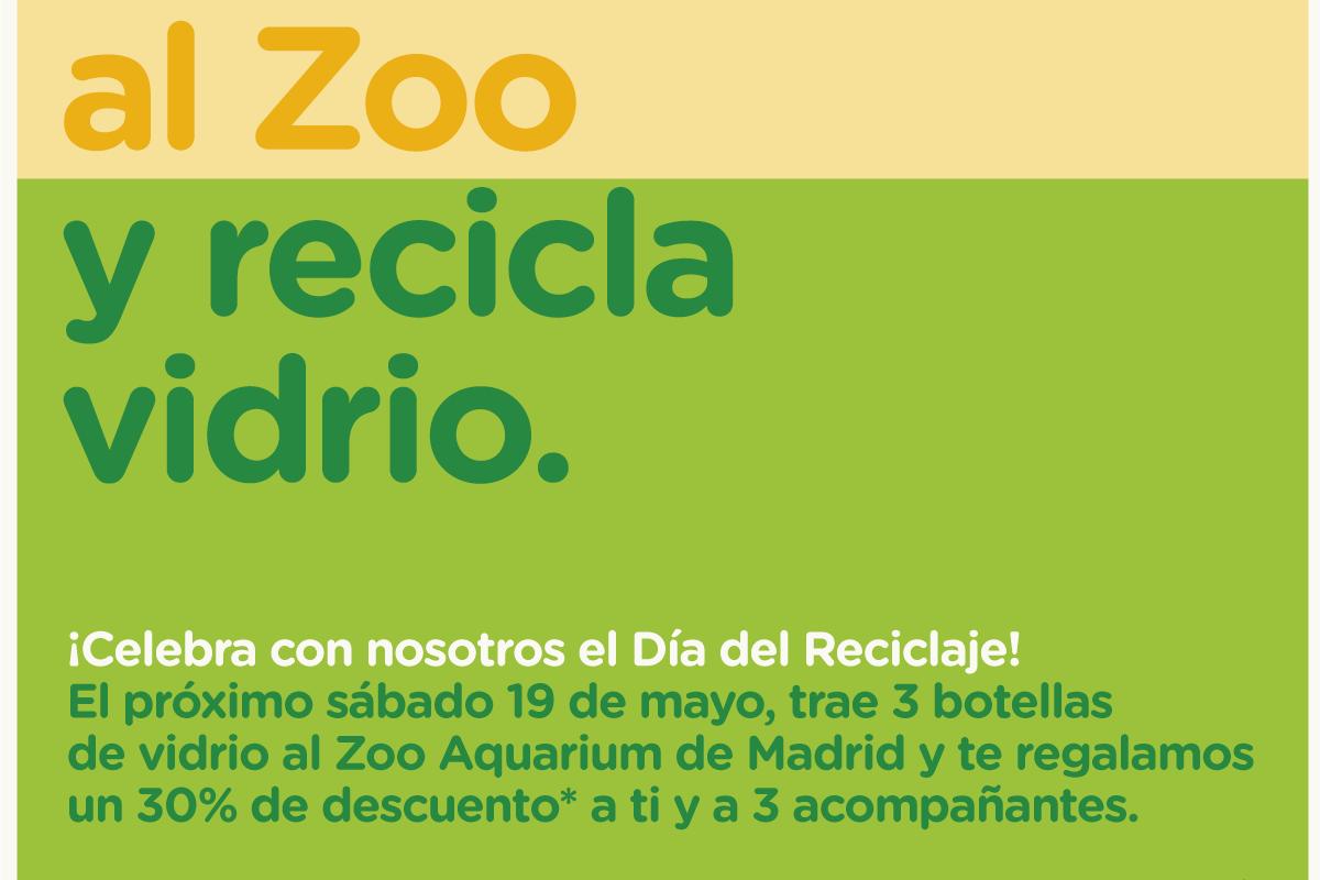 El zoo de Madrid y Ecovidrio celebran el día del reciclaje.