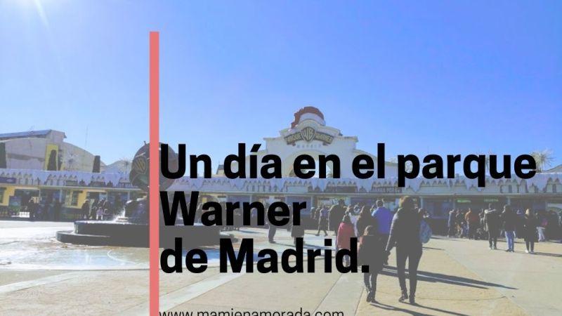 Pasamos un dia en el parque Warner de Madrid en Navidad.