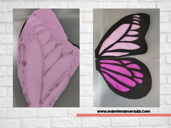 Te enseño el paso a paso de  cómo hacer unas alas de mariposa con papel crepe o papel pinocho y goma Eva, súper fácil y para todas las edades  ¿Te animas?