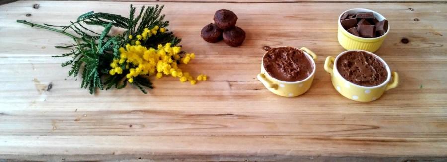 mousse au chocolat au lait et éclats de caramel
