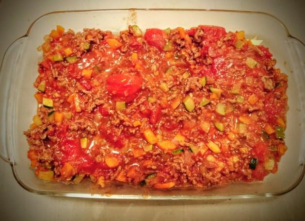 préparation des lasagnes