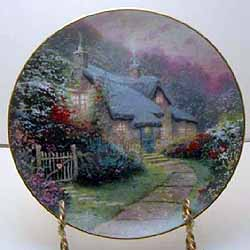 Rose Garden Cottage Collector Plate By Thomas Kinkade