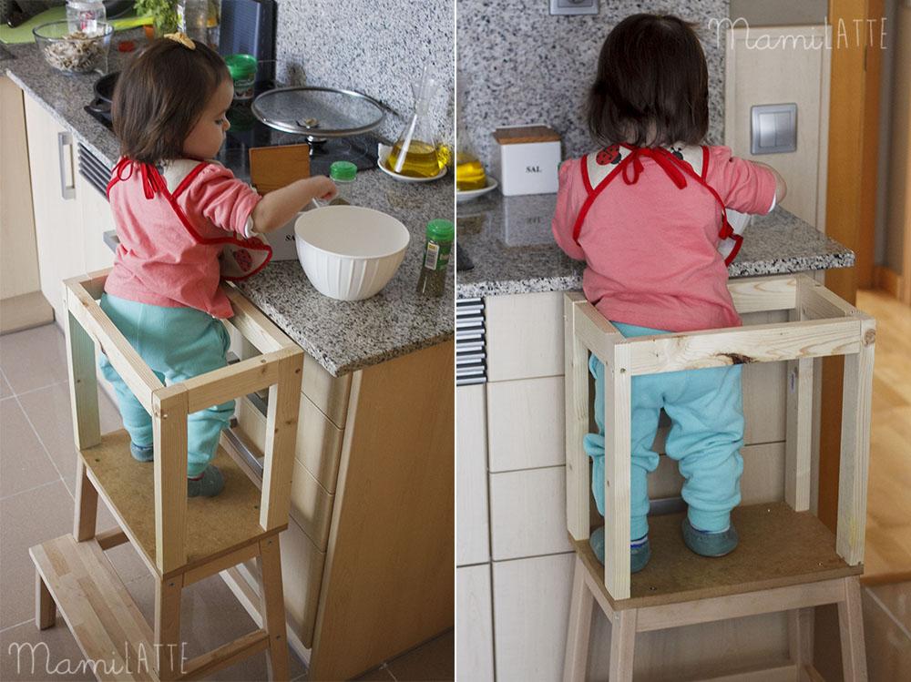 Torre de aprendizaje material montessori mamilatte for Torres en la cocina youtube