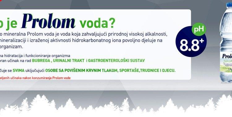 PROLOM VODA – Prirodno mineralna voda Ph 8.8+