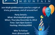 MyBrightMountain.com Twitter Party @MyBrightMTN #HolidayMBM