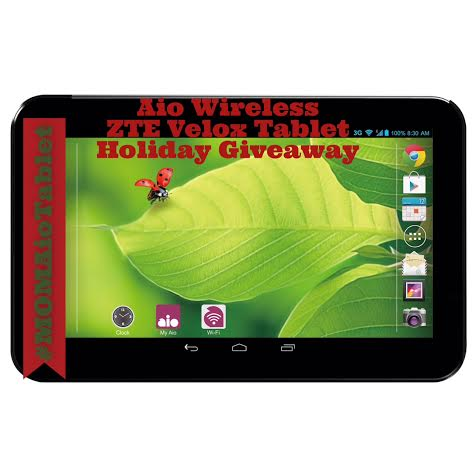 Aio Wireless ZTE Velox Tablet Holiday Giveaway — Mami of
