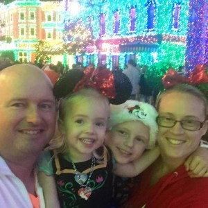 celeste martell family at disney christmas