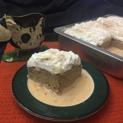 Pastel Tres Leches de Calabaza