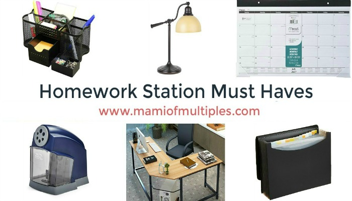 Tips for Creating a Homework Station
