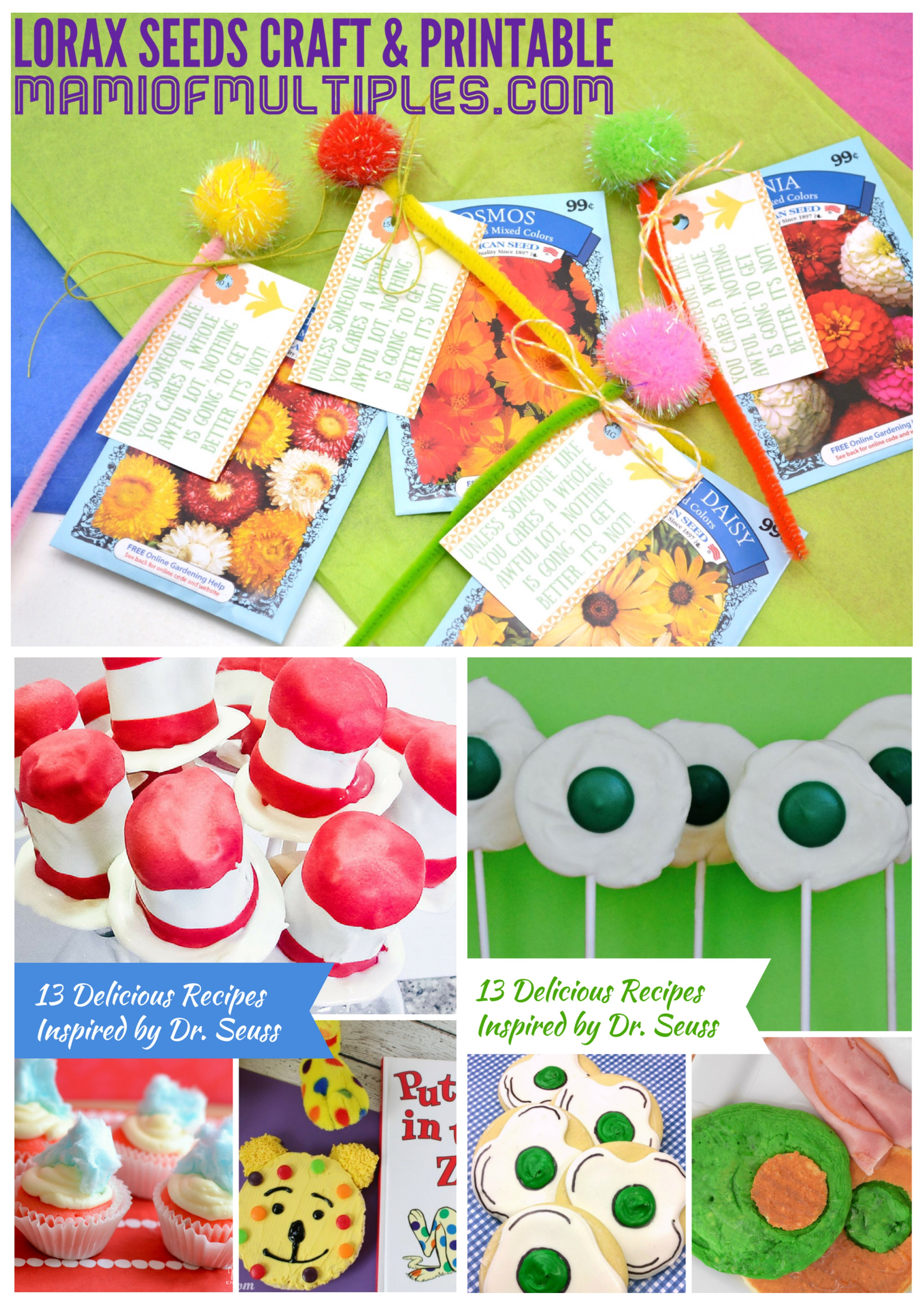 picture about Truffula Seeds Printable known as Lorax Seeds Craft and 13 Encouraged Dr. Seuss Recipes Mami
