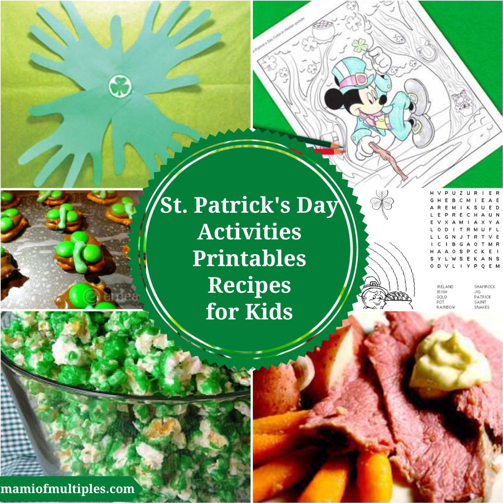 St Patrick S Day Activities And Printables And Recipes