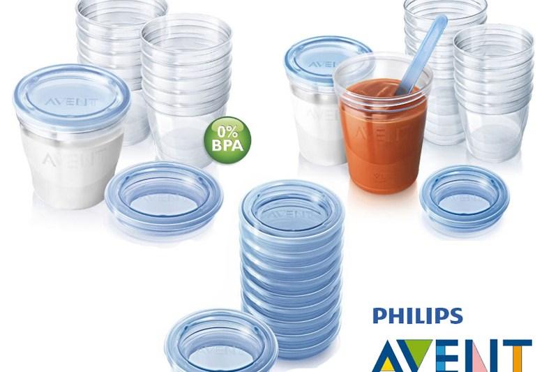 Almacena purés y leche materna con Avent Via Gourmet