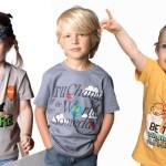 Grandes frases en pequeñas camisetas