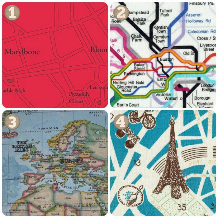 Telas mapas