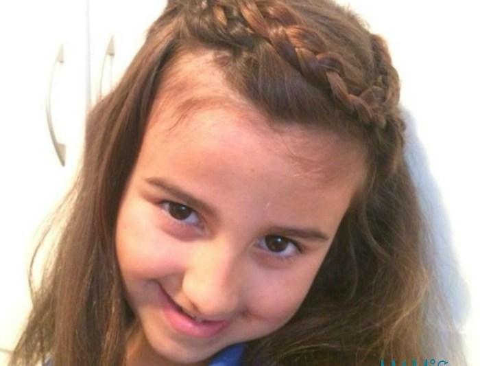 Peinado tipo corona para niña