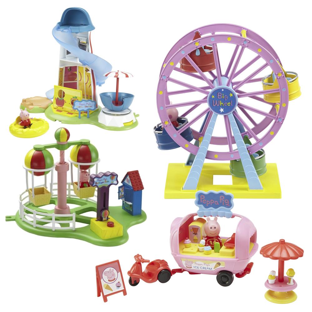 Juguetes infantiles Jugamos a las ferias y parques de atracciones
