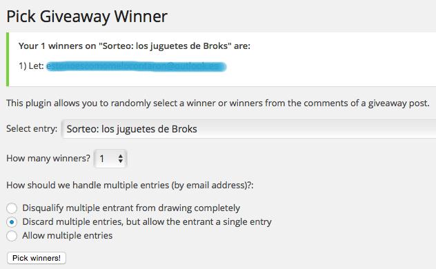 Ganadora blog