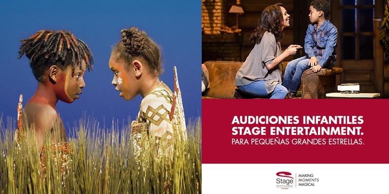 Audiciones Infantiles para los musicales de Stage Entertainment
