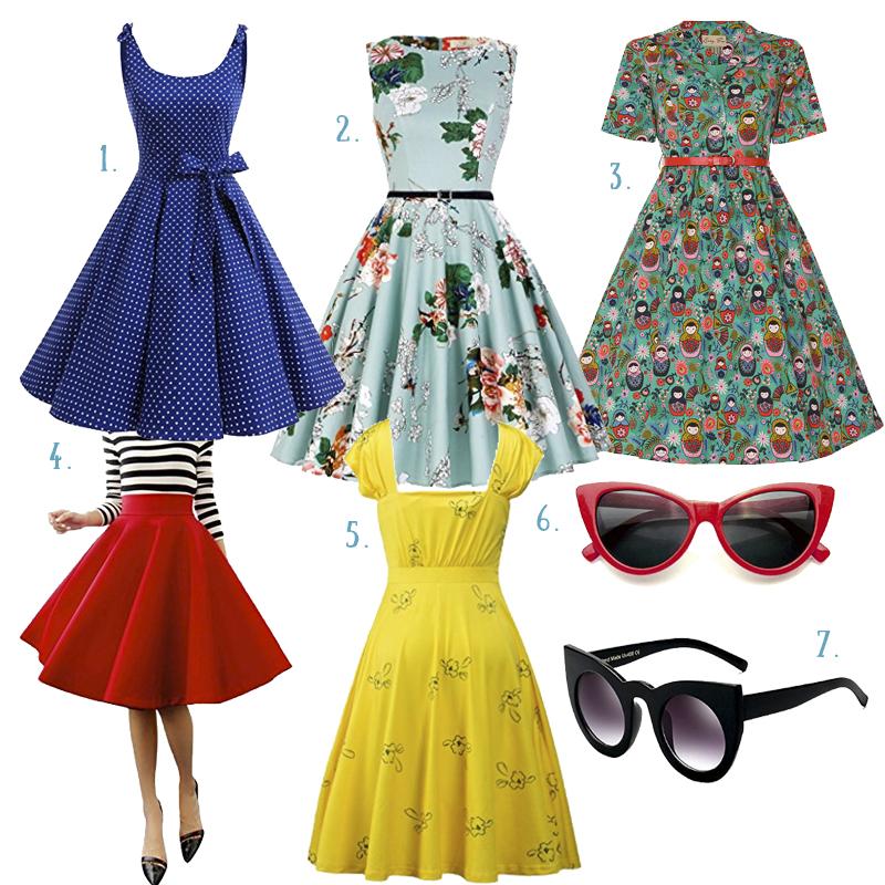 vestidos retro