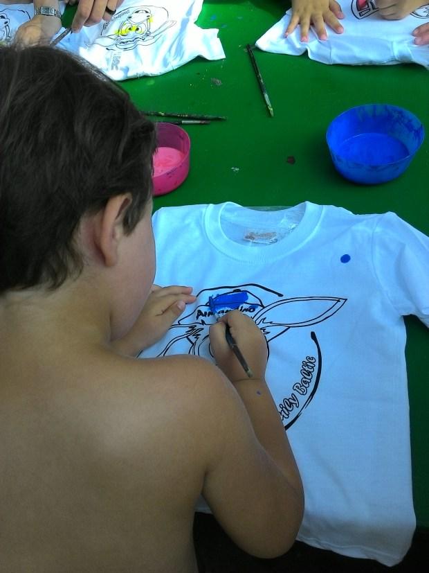 maglietta da colorare