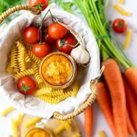 Crema di carote e pomodorini
