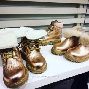 scarpe pitti bimbo oro