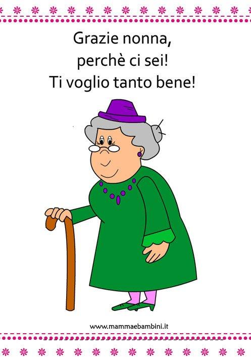 disegno nonna con dedica