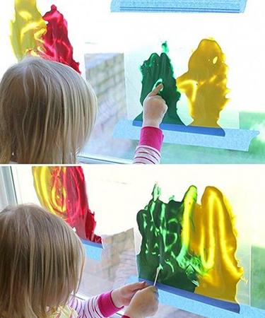 Sperimentare con i colori senza sporcarsi