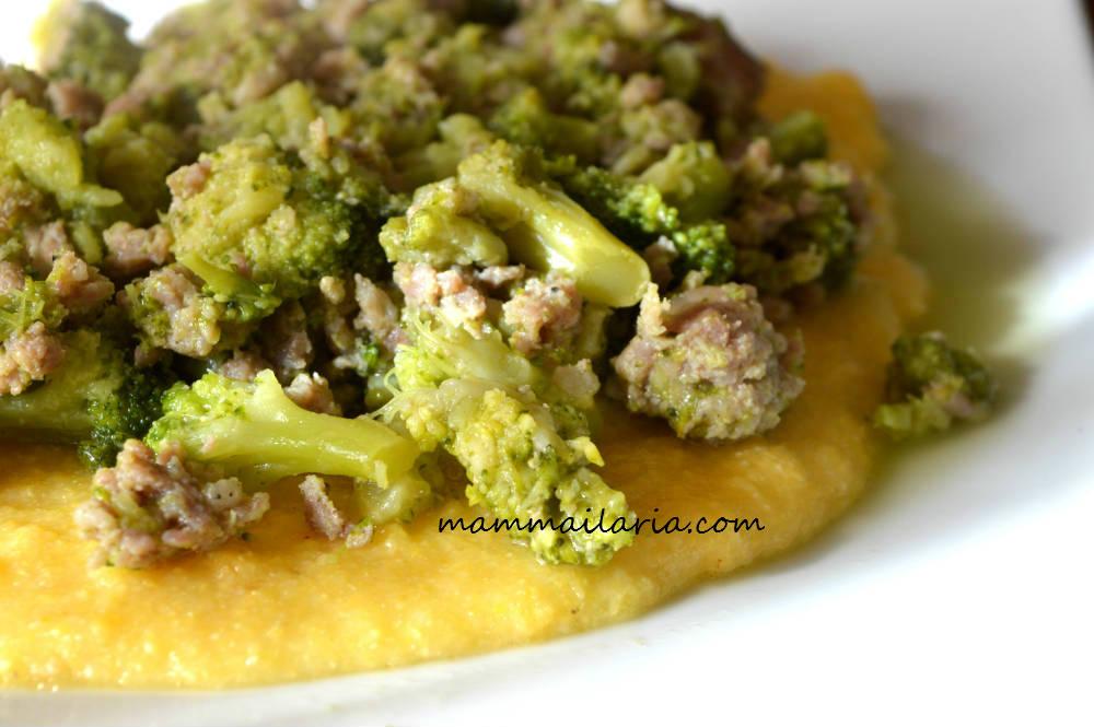 Polenta broccoli e salsiccia