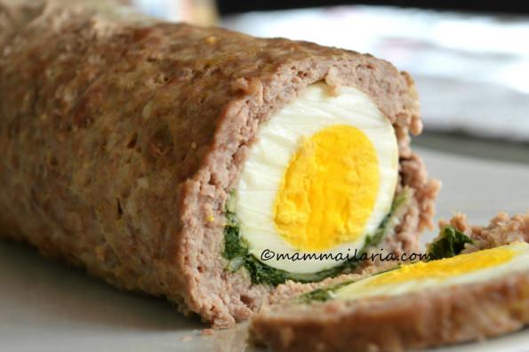 polpettone con le uova sode