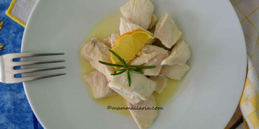 bocconcini di pollo con limone e rosmarino