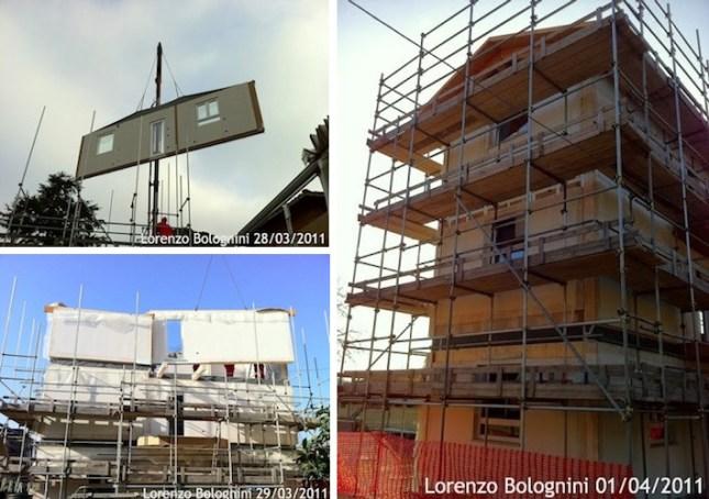 Casa ecologica a San-Lazzaro di Savena: le fasi della costruzione
