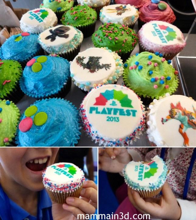 PlayFest 2013: cupcakes con decorazioni in tema