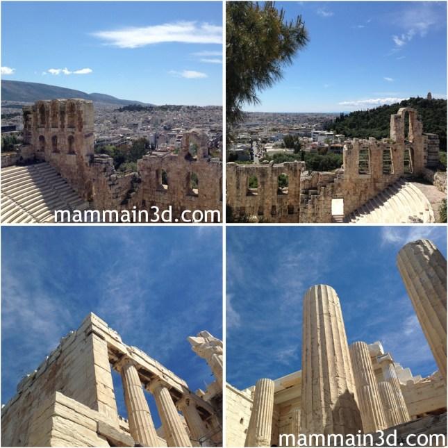 Atene: ingresso all'Acropoli dai Propilei - Teatro di Erode Attico