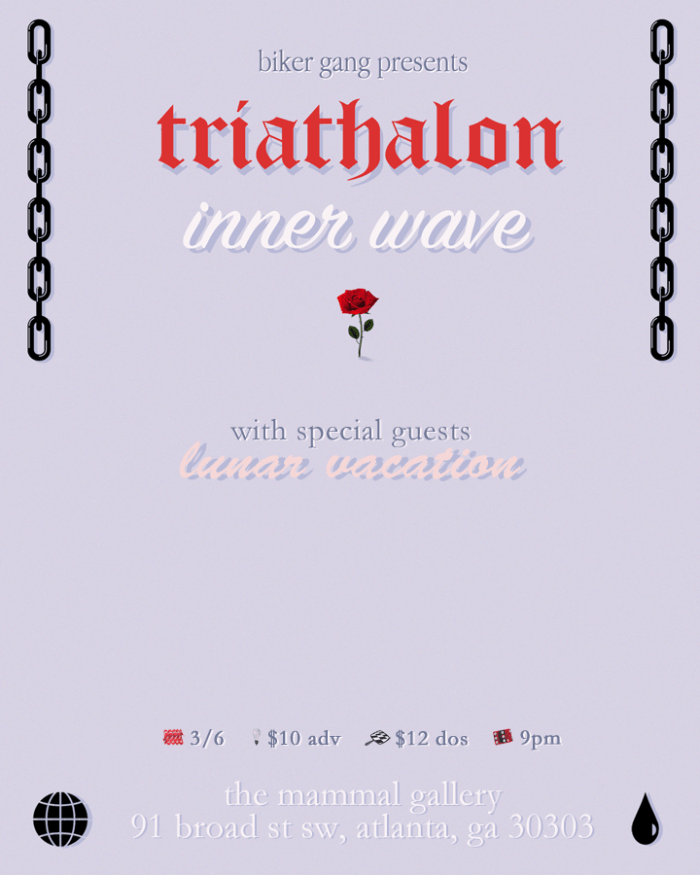 Triathalon and Inner Wave live at The Mammal Gallery in Atlanta, Georgia.