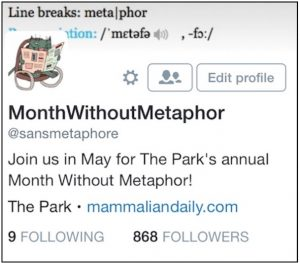 Month Without Metaphor border