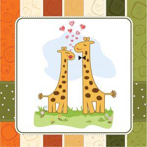 Giraffes at Mating Dance